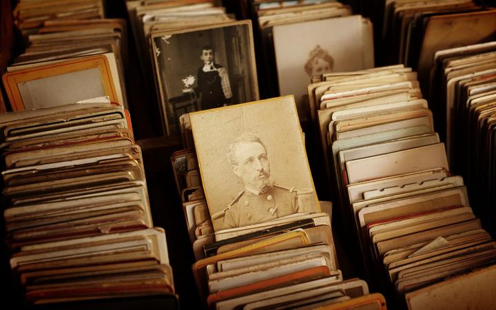 Vintage fofografi på soldat